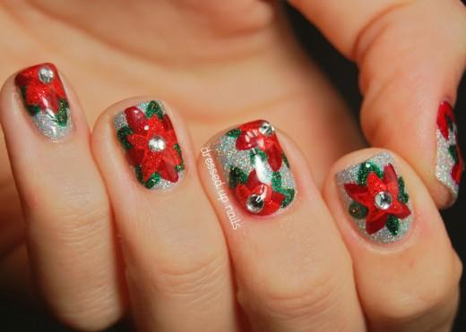 China Glaze Glistening Snow Nail Design