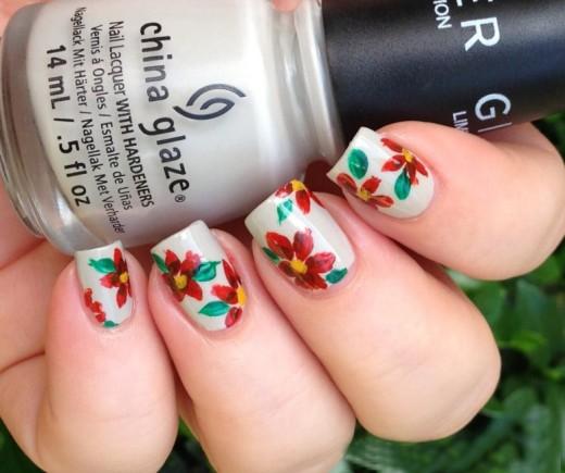 Nail Art Flowers Design for Women