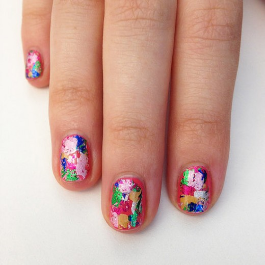 Colorful Nail Art Fancy Designs