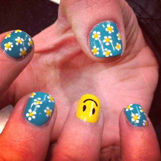 Creative Flower Nail Design Ideas