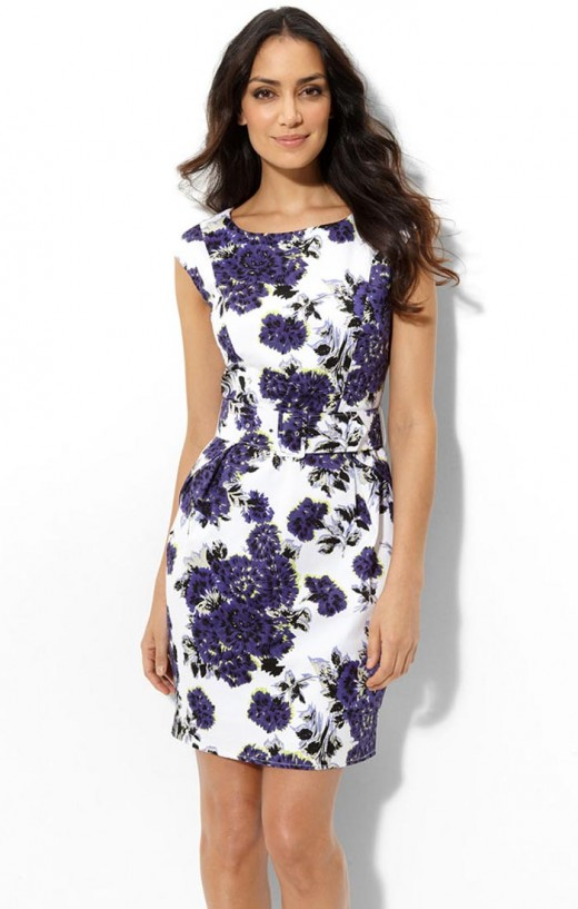 Summer Flower Print Dress for Women