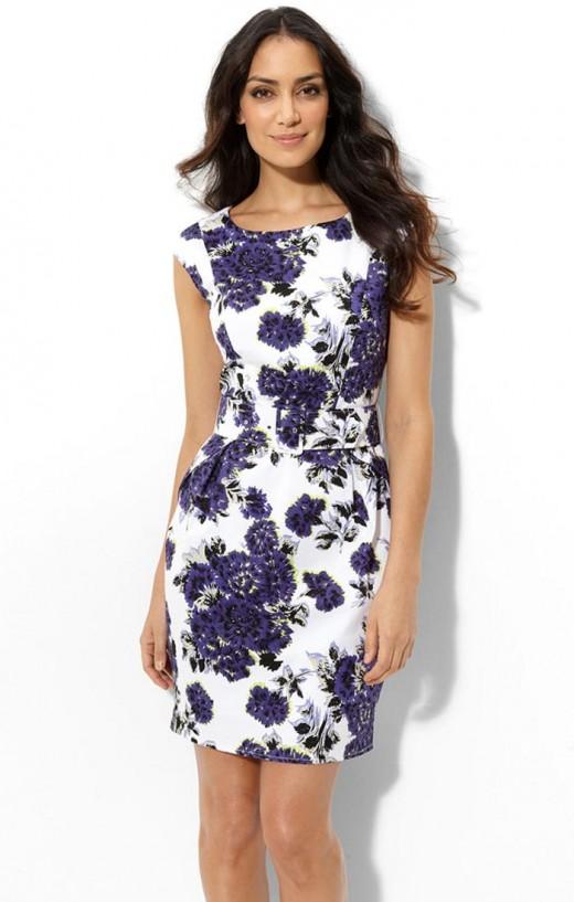 Summer Flower Print Dress for Women