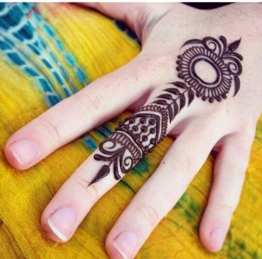 Simple Finger Henna Tattoo Ideas for Women