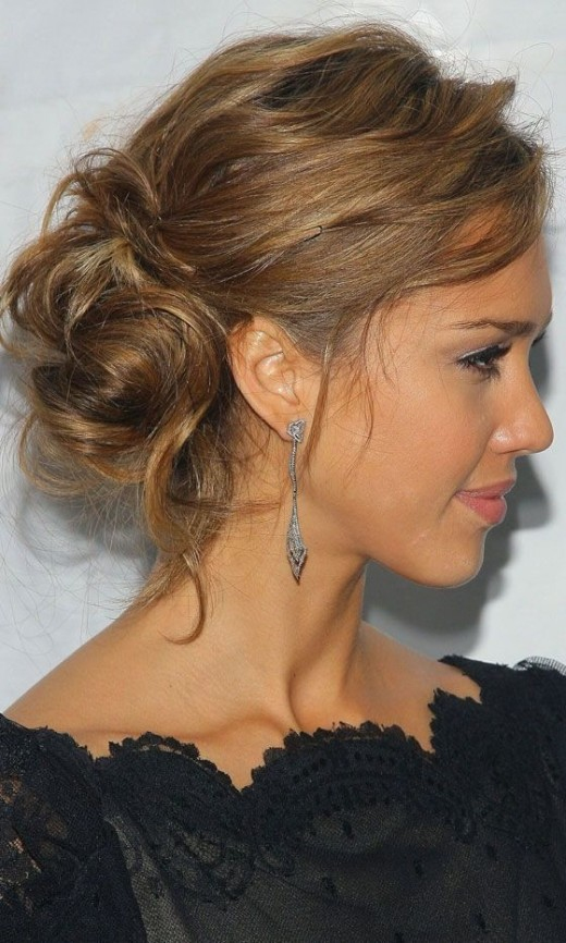 Great Low Hung Messy Bun Haircuts