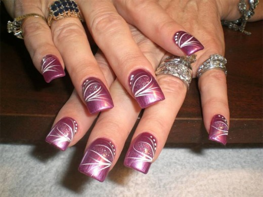Attractive Painted Nail Designs for Women