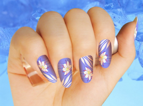 Cool Easy Floral Nail Painting Ideas