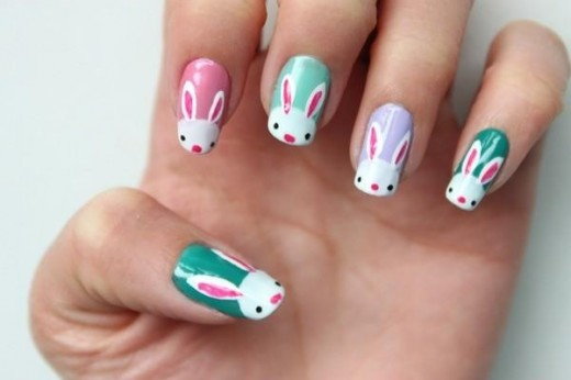 Funny Bunny Nail Pattern for Teen Girls