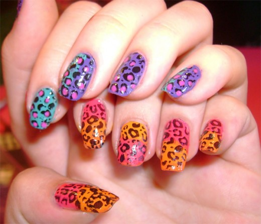 Leopard Printed Nail Polish Designs 2016