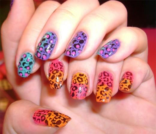 Leopard Printed Nail Polish Designs 2016