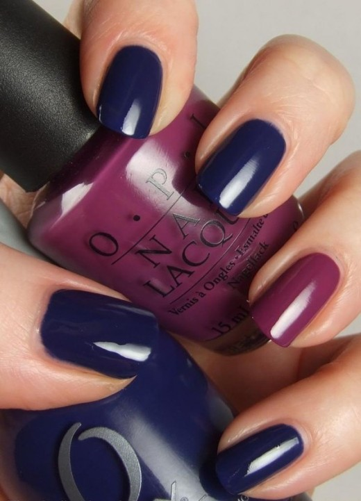 Super Dark Blue Nail Polish Designs