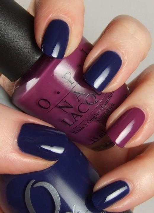 Super Dark Blue Nail Polish Designs