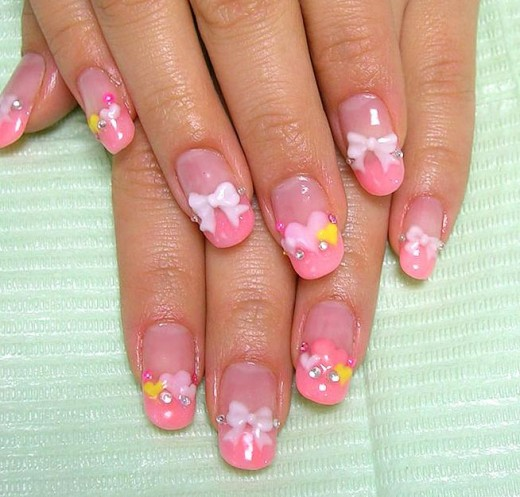 Trendy Acrylic Bow Style Nail Designs