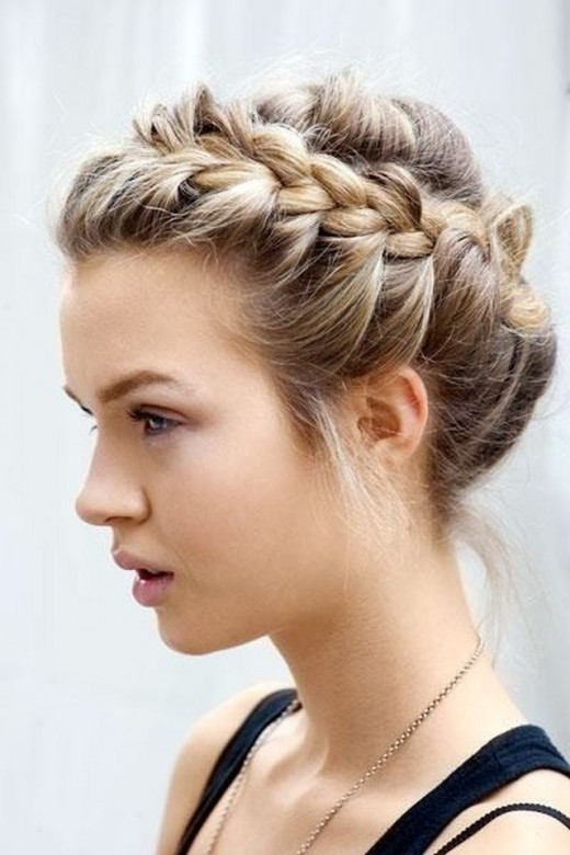 Braided Short Hair Hairstyles for Formal Event
