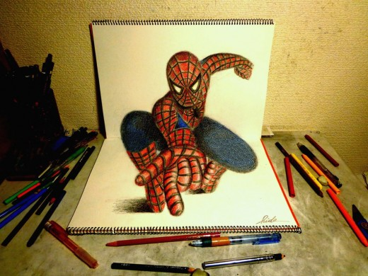3D Drawing - The Amazing Spider