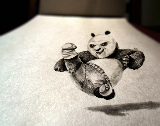 3D Effect Teddy Bear Drawing