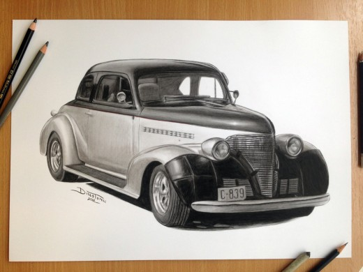 Car Pencil Drawing