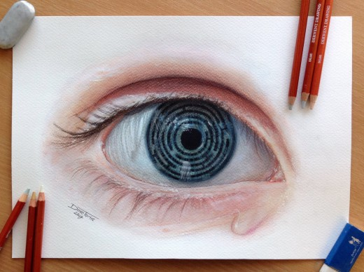 Eye Maze Pencil Drawing