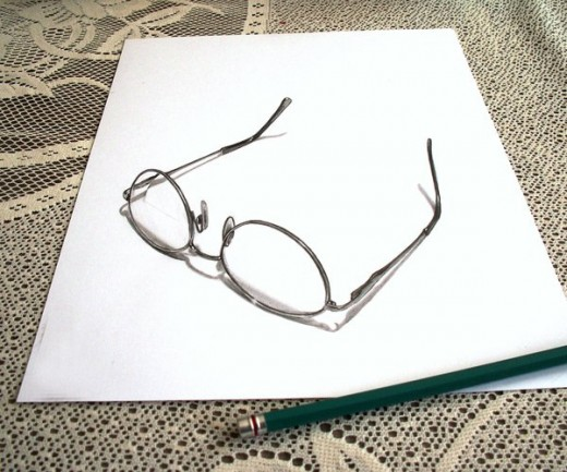 Glasses Pencil Drawing