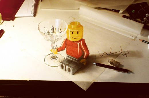 Lego Man 3D Drawing