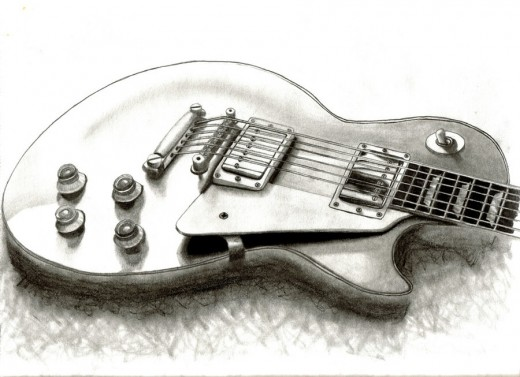 Les Paul Pencil Drawing