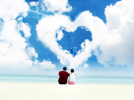 Cute Lovers Dream World HD Wallpaper