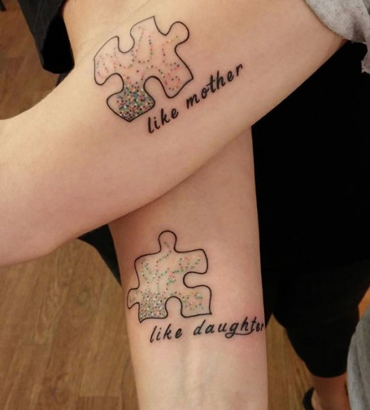 Cute Mother and Daughter Tattoos 2016
