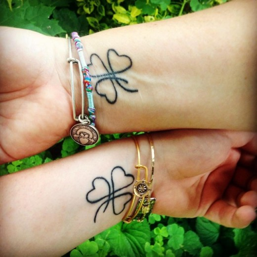 Cutest Wrist Mother Daughter Tattoos 2016