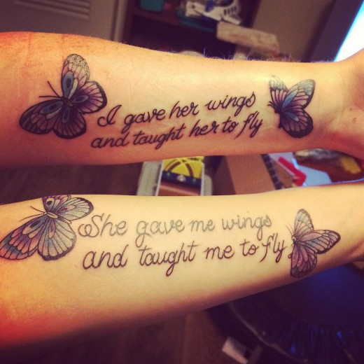 Great Mother Daughter Tattoo on Arm