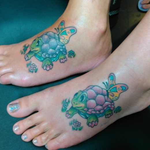 Mom Daughter Turtles Tattoo Ideas