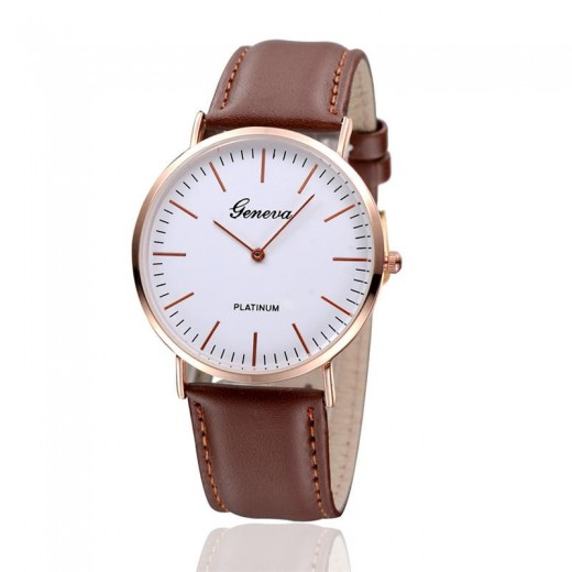 Hot Unisex Casual Leather Watch Pictures